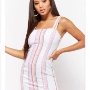 Striped Linen-Blend Mini Dress